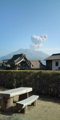 桜島噴火の瞬間